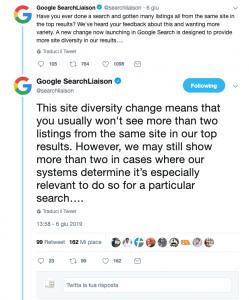 ranking google search